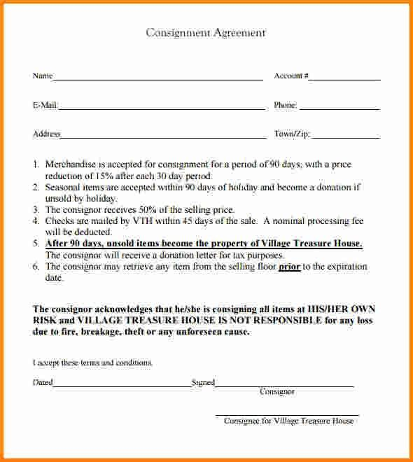 7+ consignment agreement sample | memo templates