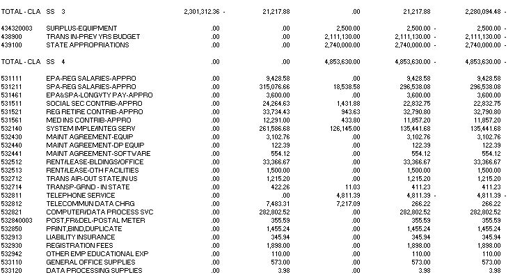 Trial Balance (by company/fund) Report Example