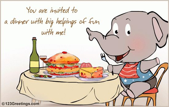 A Dinner Invitation For Your Friend! Free Food & Drink eCards ...