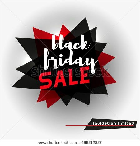 Black Friday Sale Tag Template Abstract Stock Vector 466212797 ...