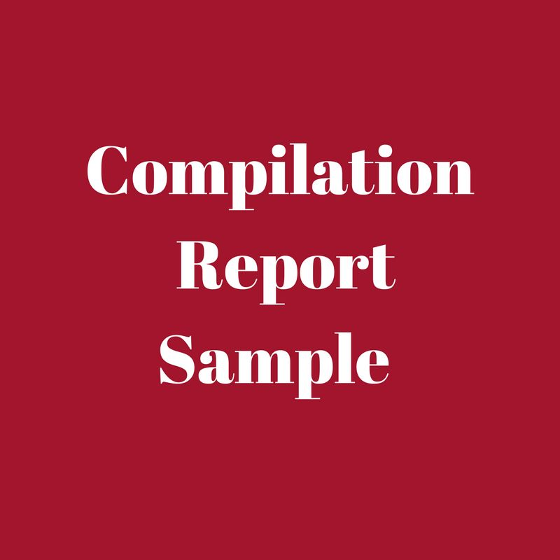 Compilation Report Sample - SSARS 21 | CPA-Scribo