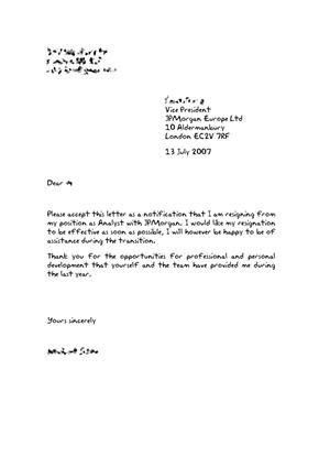 Resignation Letter Sad To Leave Page 31: samples of resignation ...
