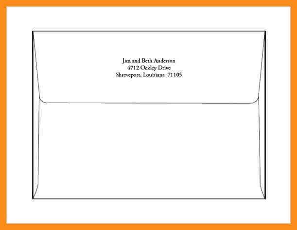 7+ format for an envelope   resume setups