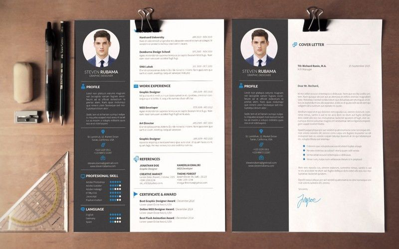 free resume template by mats peter forss. 30 free beautiful resume ...