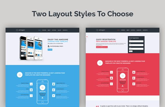 Amagon Flat Bootstrap Landing Page Template by mannatstudio ...