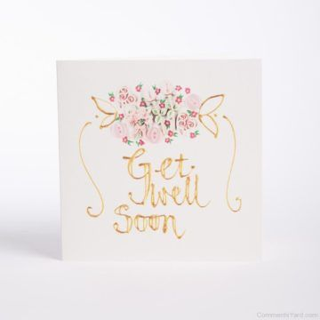 Simple And Cute Get Well Greeting Card Template With Cute Teddy ...