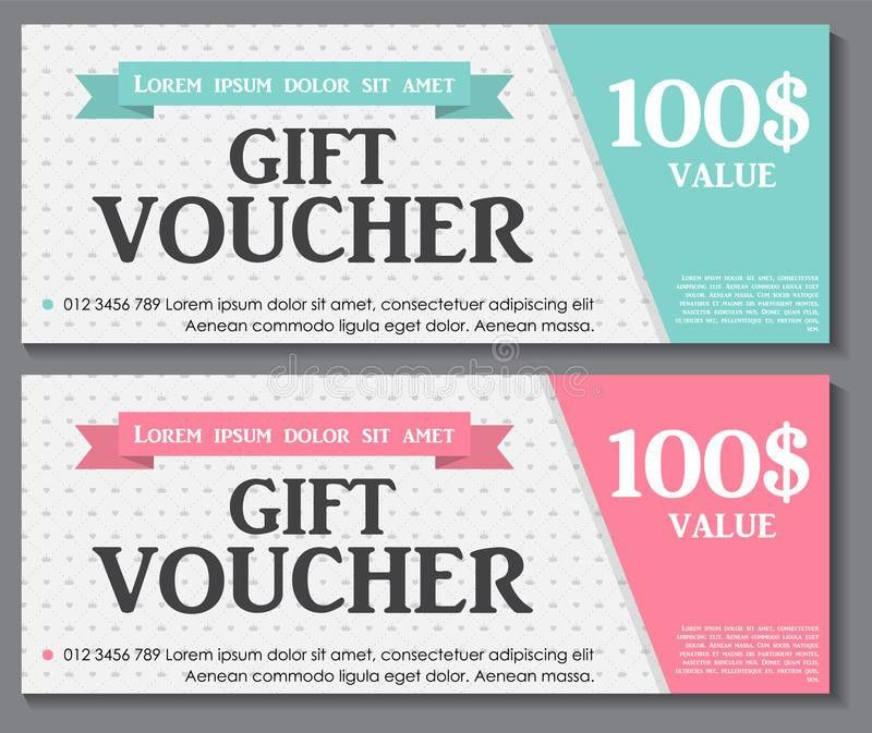 Gift Voucher Template With Sample Text Vector Stock Vector - Image ...