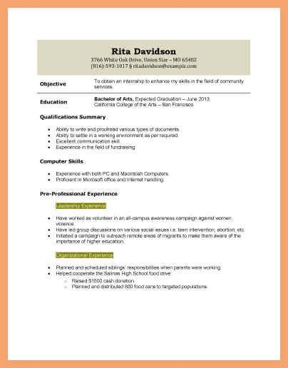high school student resume with no work experience | good resume ...