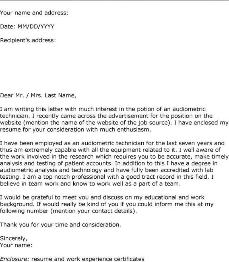 Letter of interest cover letter sample