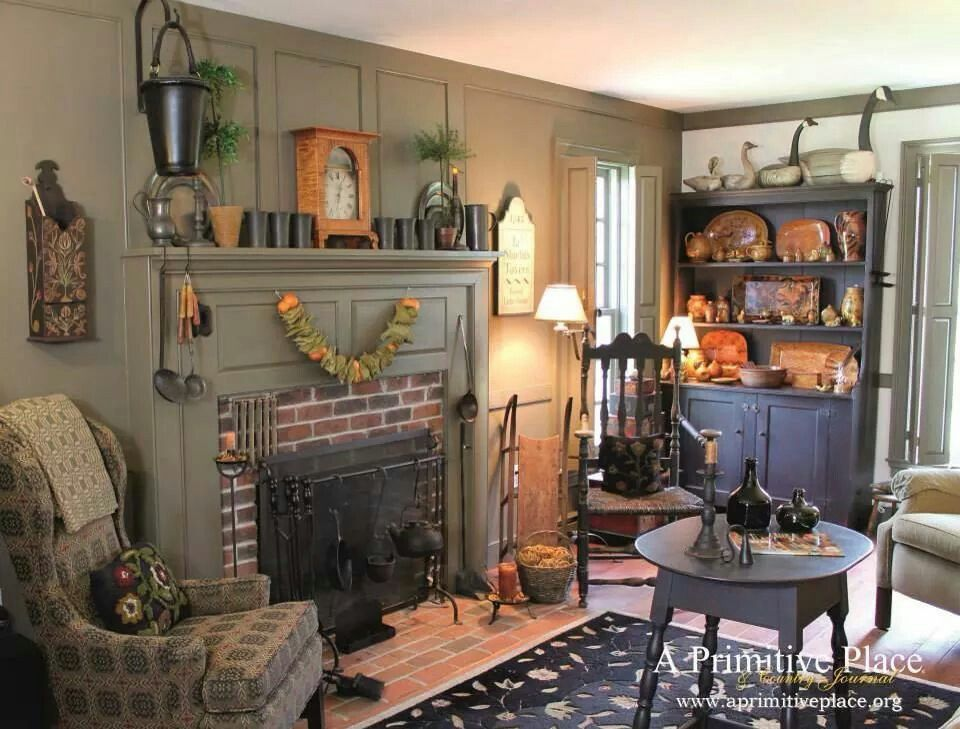 Primitive Living Rooms On Pinterest Primitive Living Room Primitives And W