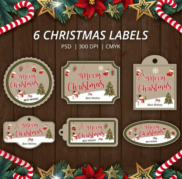 180+ Christmas Label Templates - Free PSD, EPS, AI, Vector Format ...