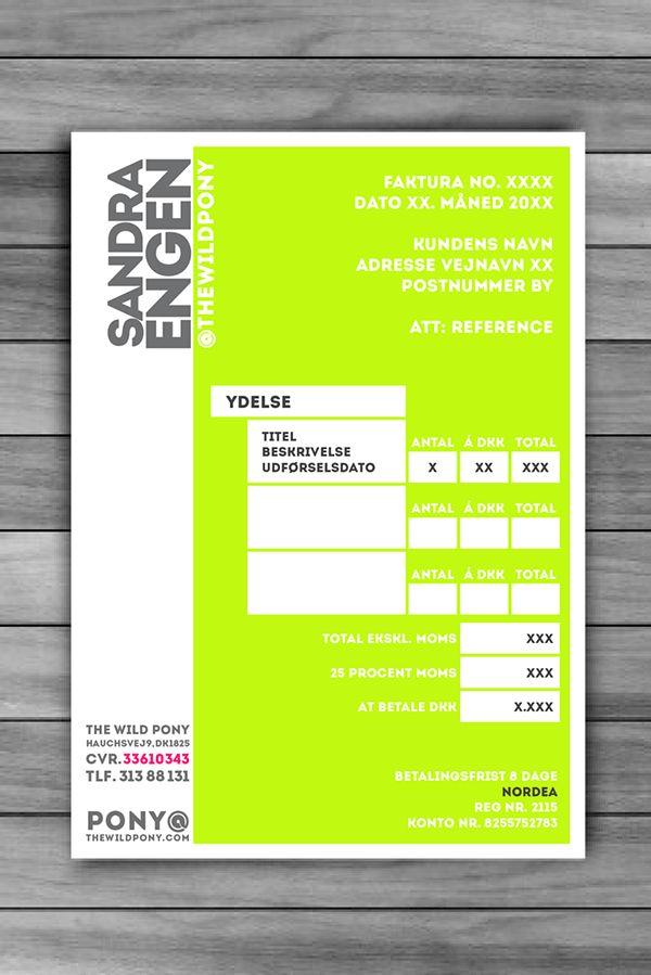 Graphic Design: Invoice. 2013. on Behance