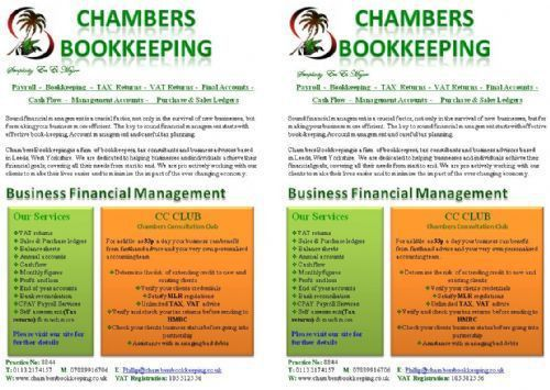 Chambers Bookkeeping - Bookkeeper in Leeds (UK)