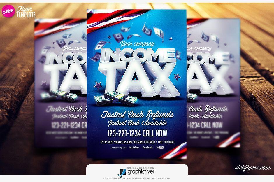 Tax Flyer Template | Income tax flyer psd | sickflyers.com