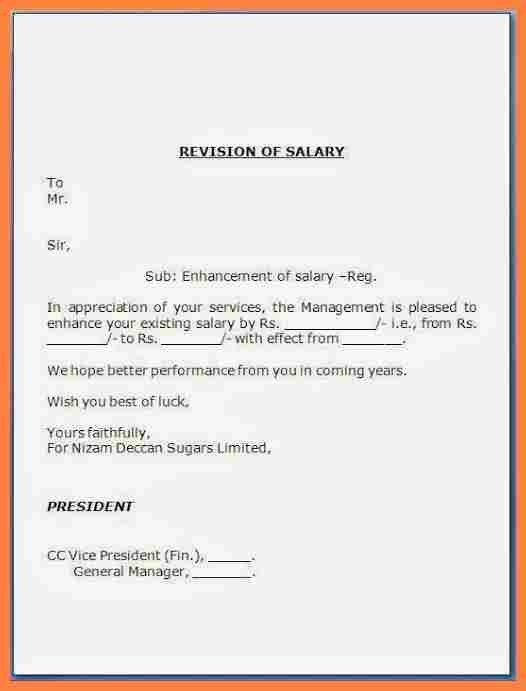 Requisition Letter. Salary Details Letter Format Salary+Revision+ ...