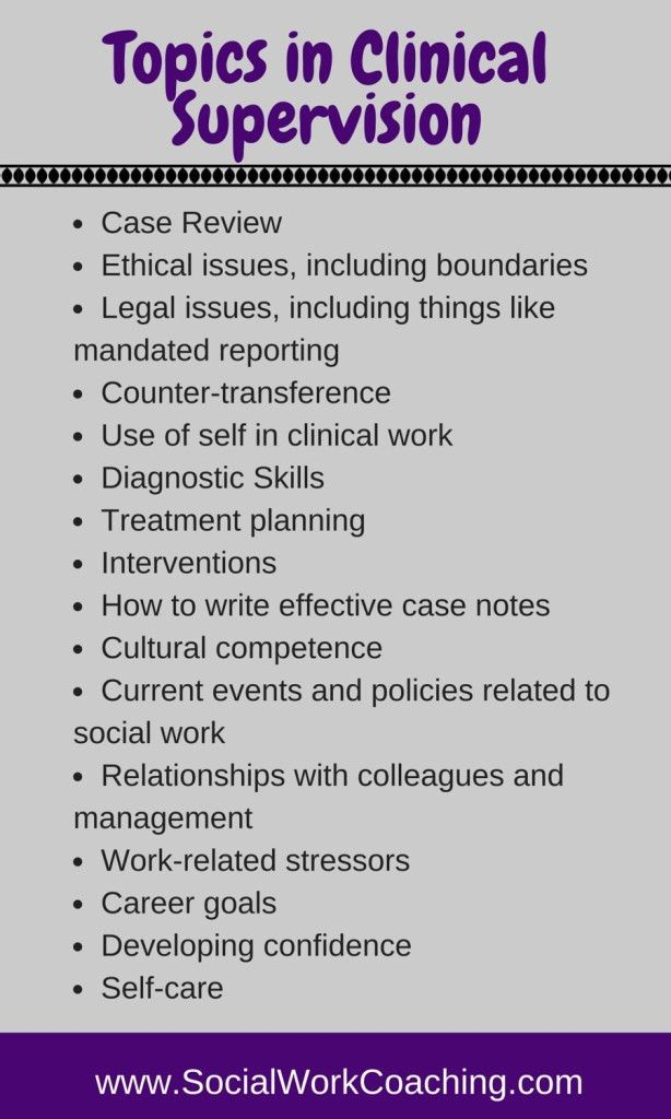What do I Talk about in Clinical Supervision? | Successful Social ...