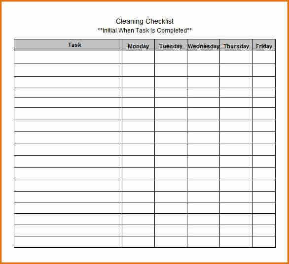 10+ blank checklist template | Job Resumes Word