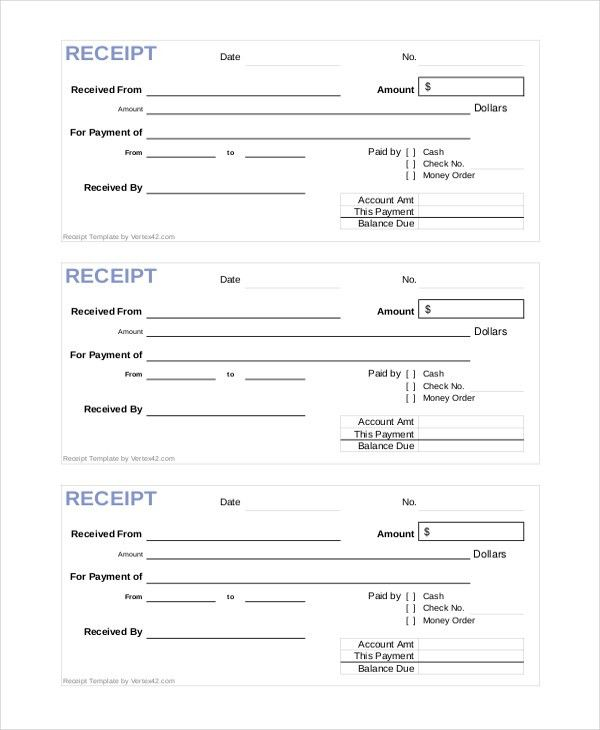 Official Receipt Template - 6+ Free Word, PDF Document Downloads ...