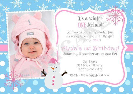 First Birthday Invitation Greeting Cards - Wedding Invitation Sample