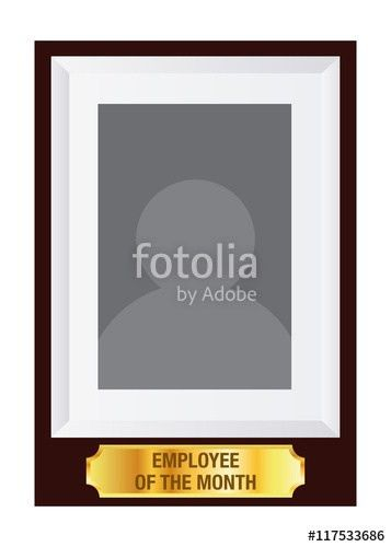 """Employee Of The Month Photo Frame Template"""" Stock image and ..."""