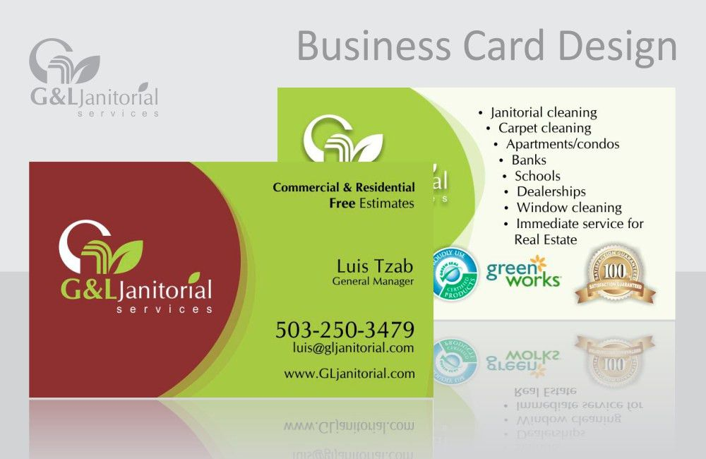 G&L Janitorial Services - Graphic Design - Norell Design Portfolio