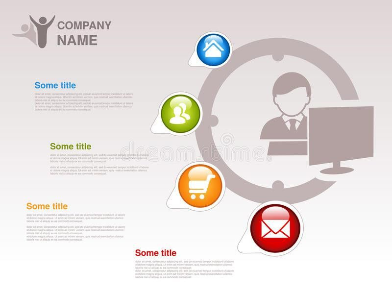 Profile Of Company. Infographic Template. Symbol Of Businessman ...
