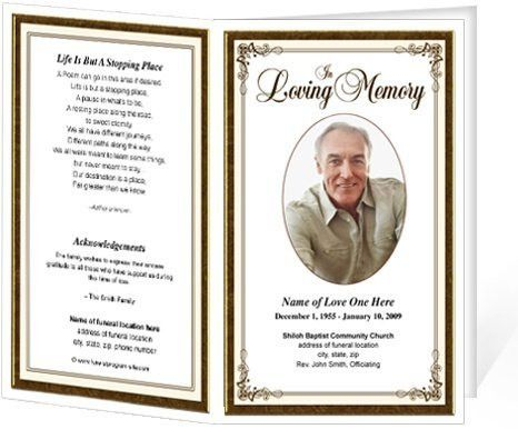 Free Printable Funeral Program Template | Best Template Examples