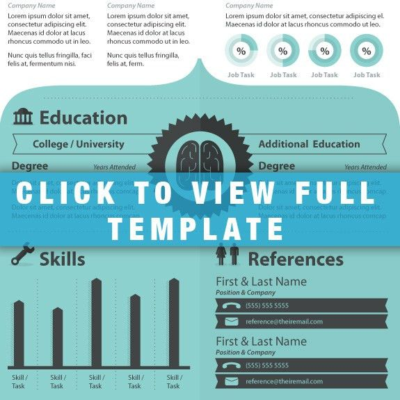 Infographic Resume Template: Hire This Brain ...