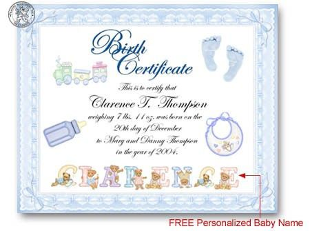 Printable Birth Certificates