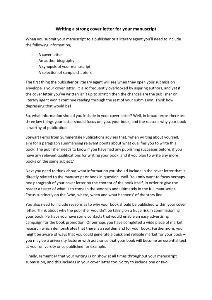 Cozy Ideas Should I Submit A Cover Letter 5 Sample For Journal ...
