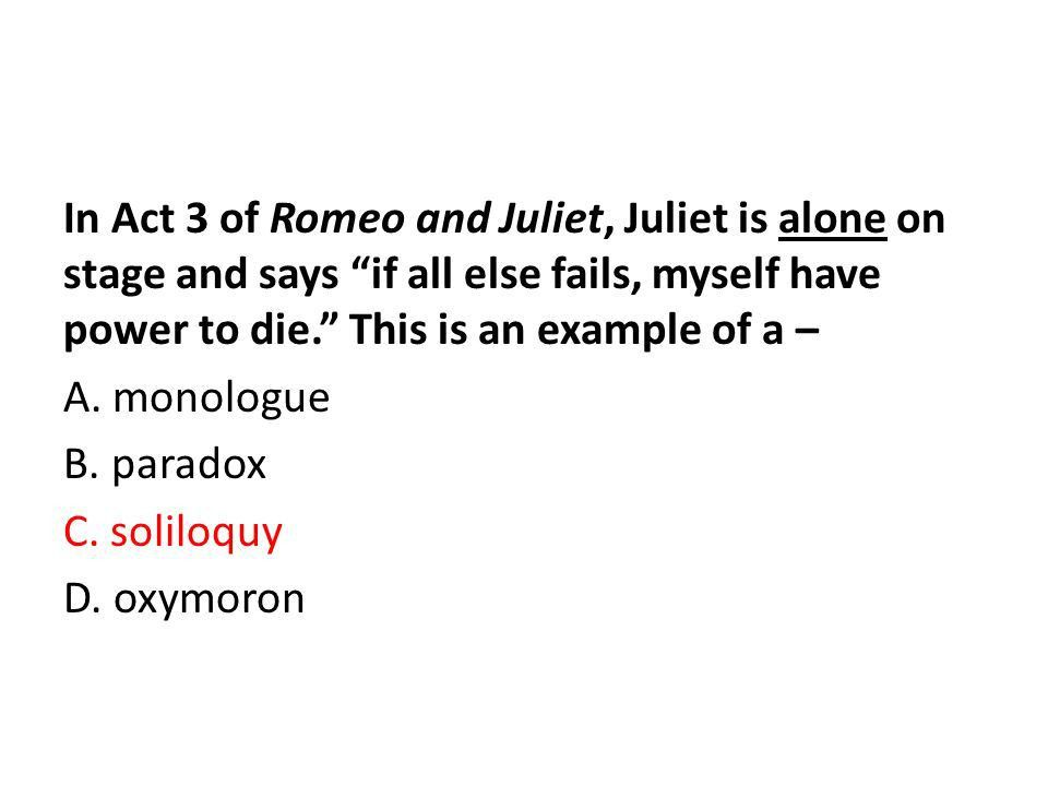 Review for the Final! Day 3: Romeo & Juliet Mr. Hegerle English ...