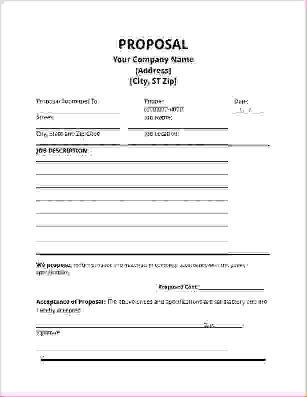 7+ job proposal template | Procedure Template Sample