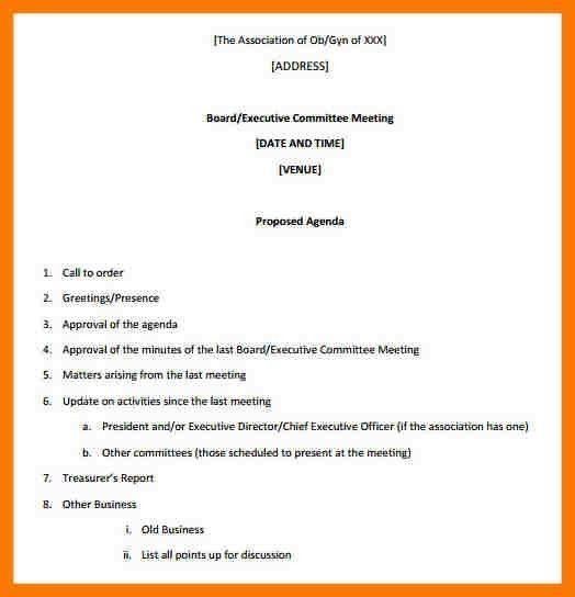 6+ meeting proposal template   park-attendant