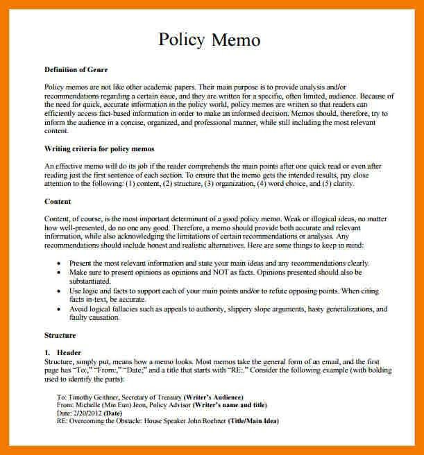 9+ example of policy memo | mailroom clerk