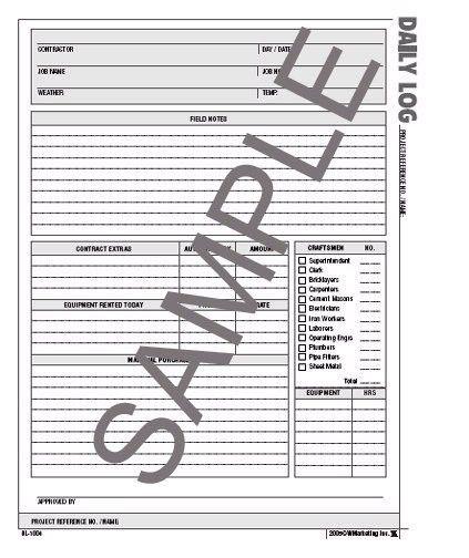 Daily Log Sheets
