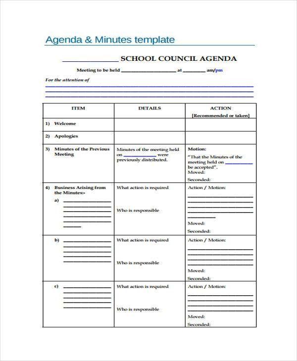 35+ Free Agenda Templates | Free & Premium Templates