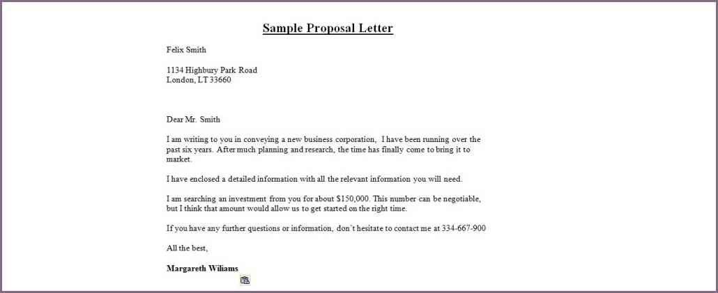 SAMPLE BUSINESS PARTNERSHIP PROPOSAL LETTER | proposalsampleletter.com