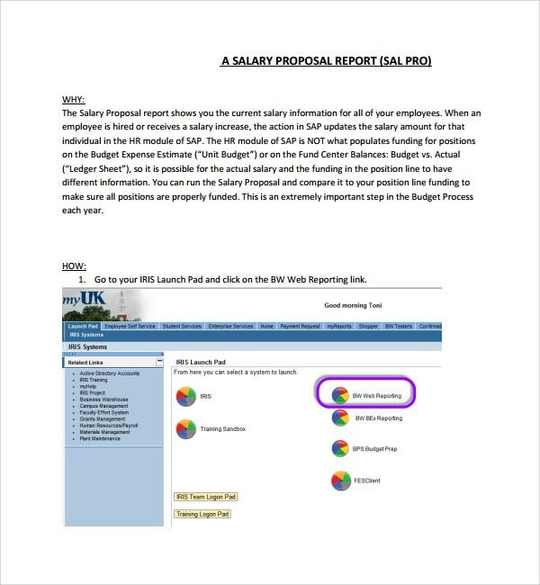Sample Salary Proposal Template - 5+ Free Documents in PDF