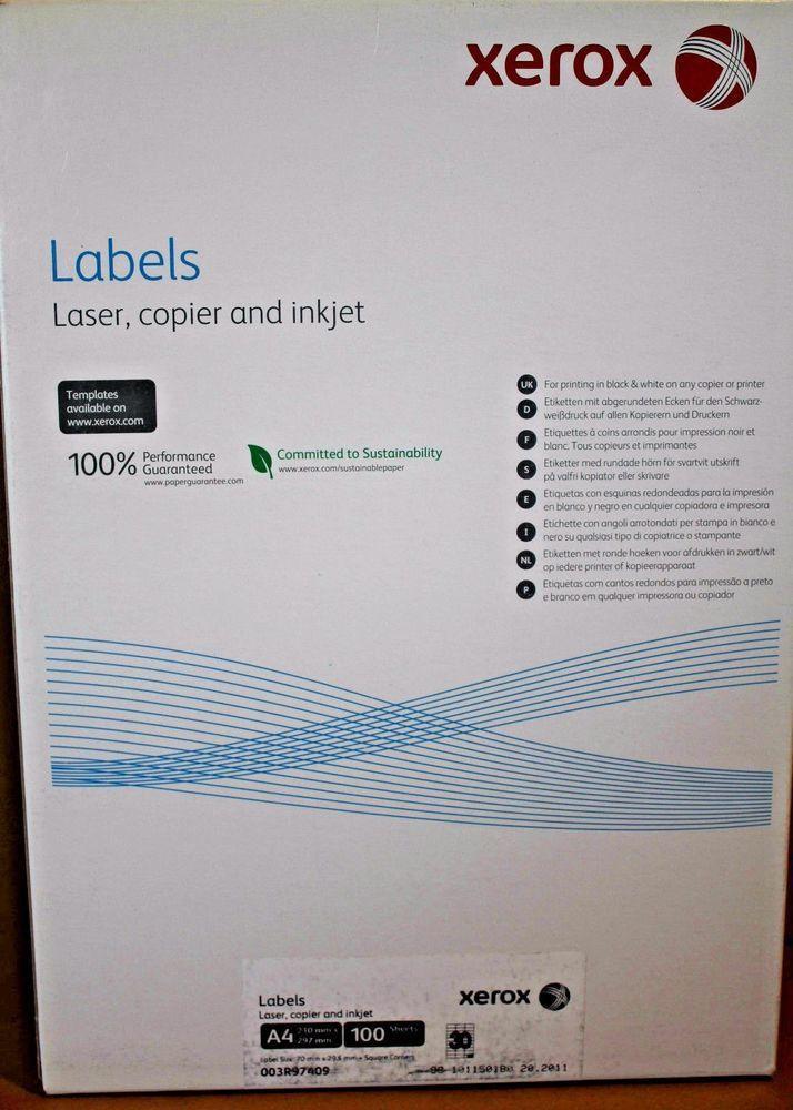 Xerox Label Templates - Contegri.com