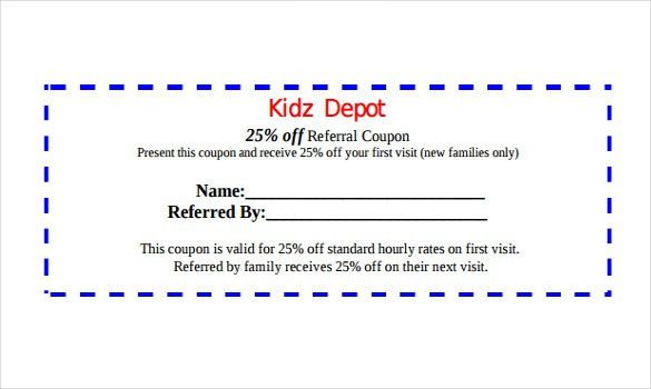 Wonderful 17+ Referral Coupon Templates U2013 Free Sample, Example, Format .