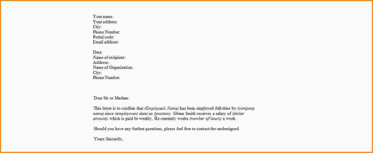 proof of employment letter format. proof of employment letter ...