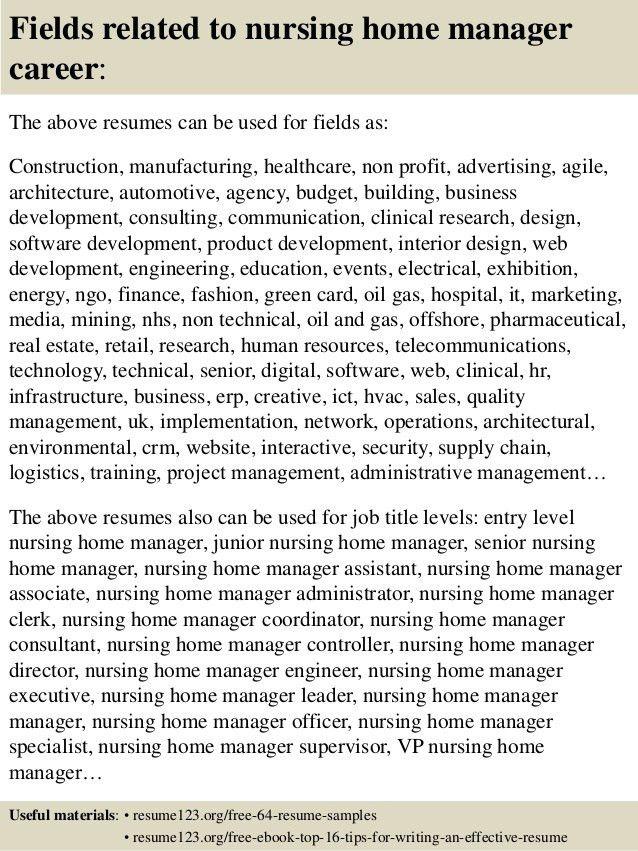 Resume for lpn in nursing home