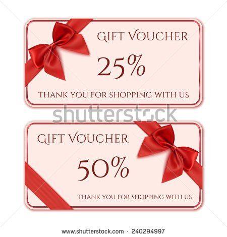 Elegant Christmas Gift Card Gift Voucher Stock Vector 489007099 ...