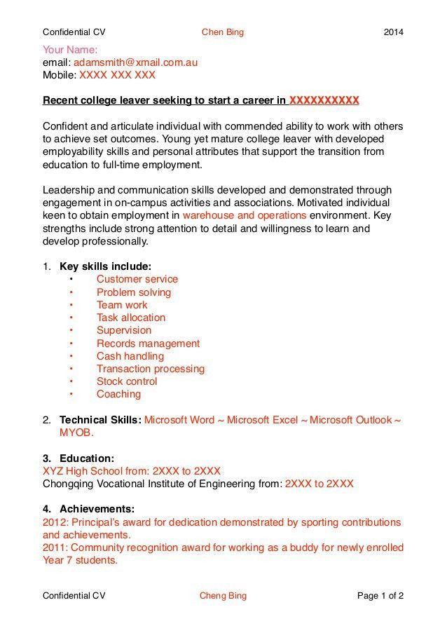 school leaver resume examples school leaver resume free excel