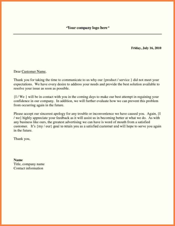 Impressive Business Apology Letter Sample To Customer For Poor ...