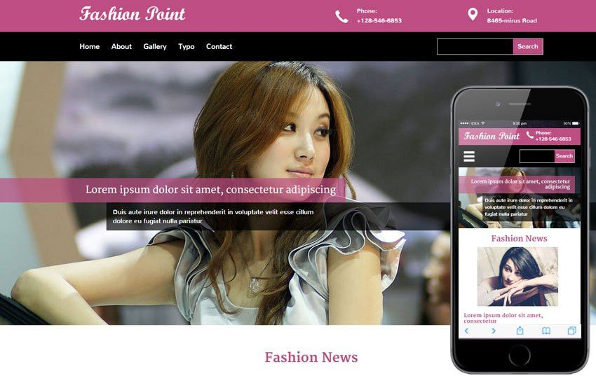 Fashion Point a Fashion Category Flat Bootstrap Responsive Web ...