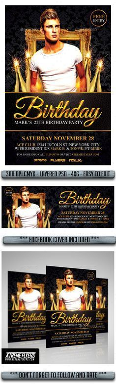 VIP Birthday Night Flyer | Flyer design templates, Font logo and ...