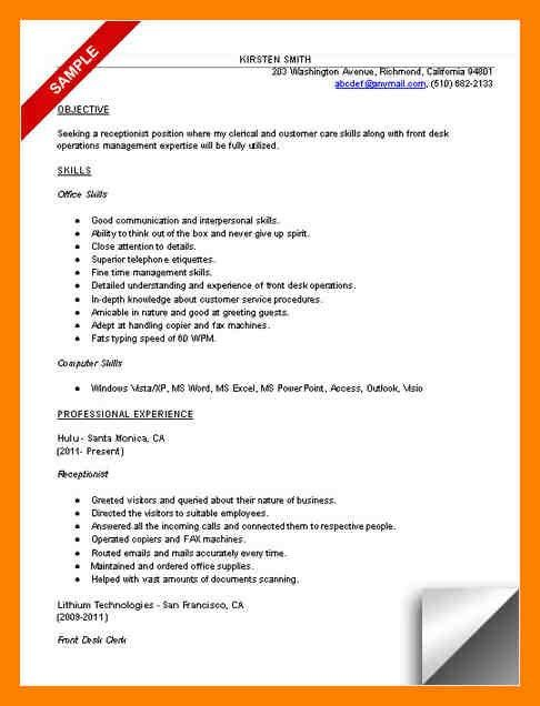 Good Receptionist Resume Samples. professional legal receptionist ...