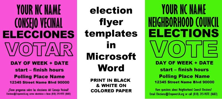 Outreach Best Practices: Cheap & Easy Elections Flyer Templates ...