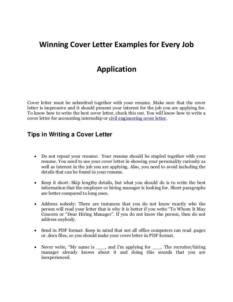 how to write a cover letter for a jobinternship abroad. example ...
